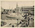 1893 Chicago Worlds Fair Grand Plaza Fountain Colonnade