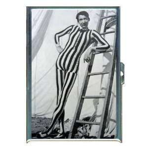 Circus Freak Vintage Tall Man ID Holder, Cigarette Case or