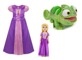 Disney Tangled Princess Rapunzel Nightgown Night Gown & Pascal