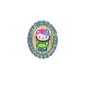 Tarina Tarantino Hello Kitty Pink Head Classic Framed Ring