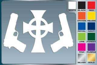 BOONDOCK SAINTS Cross & Guns logo cut vinyl car decal