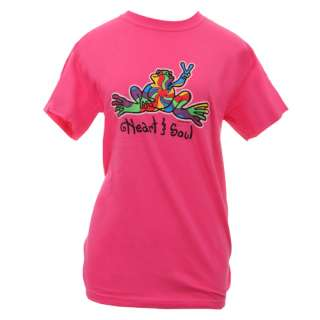 Peace Frogs Ibis Rose Heart & Soul T Shirt Womens Style Love Calm