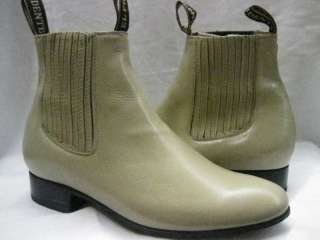 SOFT REAL LEATHER ANKLE BOOTS SHOES RIDING BOTIN CHARRO