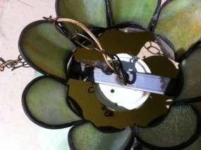 Vintage Tulip Slag Swag Green Swag Lamp Shade Globe
