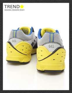 BN ASICS GEL SUTO Running Shoes Grey/Yellow/Blue