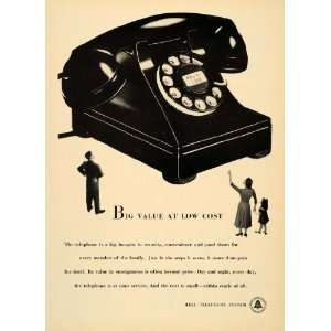 Phone Bell Telephone System Call Calling   Original Print Ad Home