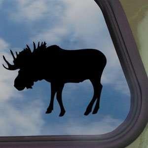 Bull Moose Hunting Black Decal Car Truck Window Sticker