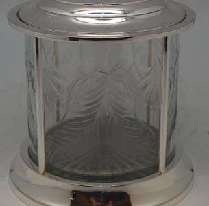 Stunning Silver Plate & Cut Glass Victorian Style Biscuit Barrel