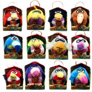 Birds 2 Inch Flocked Mini Plush Random Selection (1 item is supplied