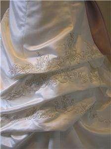 NEW EDEN wedding dress Bridal gown Ivory/rose pink 10