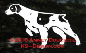 BRITTANY SPANIEL DOG POINTING HUNTING DECAL STICKER
