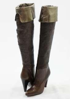 499 BCBG Max Azria ILKE Brown High Heels Boots Shoes