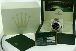 ROLEX SUBMARINER MENS DIAMOND BEZEL BRAND NEW 2011 BOX
