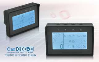 Car OBD II Diagnostics Tool 4 inch monitor shows real time information