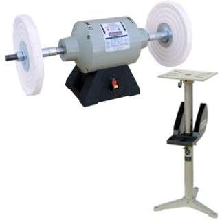 10 Industrial Buffing Machine w/ Adjustable Pedestal