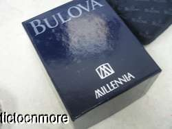 BULOVA MILLENNIA VIBRA ALARM 100M LUMINOUS DIAL MENS WRIST WATCH NOS