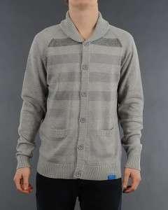 Adidas Originals Men Medium M Faded Stripped Stripe Knit Cardigan