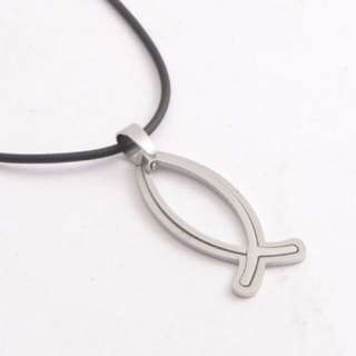 Fashion jewelry fish pendant Stainless Steel necklace