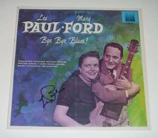 Les Paul Signed LP Bye Bye Blues Mary Ford Rare