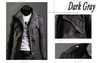 Mens Casual Stylish Slim Fit Zip Short Coat Jacket M L XL XXL 3 color