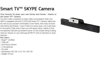 NEW SAMSUNG CY STC1100 HD Smart TV SKYPE Web Camera