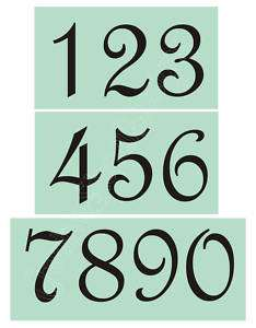 STENCIL French Script 4 Numbers Country Shabby Primitive House Bride