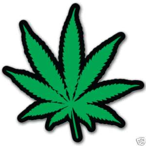 Cannabis Weed Marijuana HEMP car bumper sticker 4 x 4