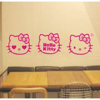 Hello Kitty big head Wall Sticker Home Decor pink y60
