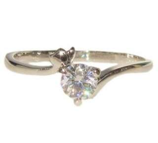 carat heart swarovski crystal white gold GP promise engagement