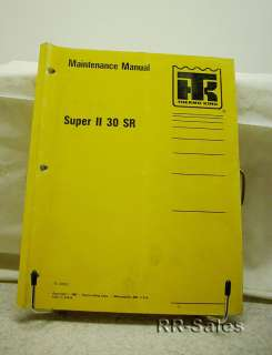 Thermo King Super II 30 SR di Engine Maintenance Manual
