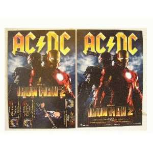 ACDC AC/DC Poster Iron Man 2 Two Ac Dc