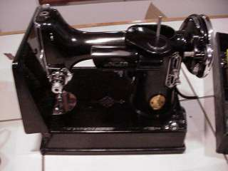 SInger Featherweight Sewing Machine 221 1 w/box and extras LOOK