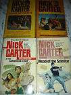nick carter espionage pb book lot 4 books