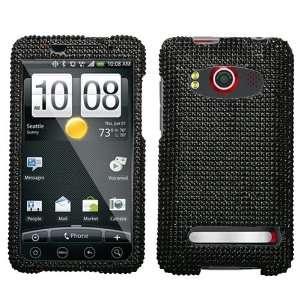 Bling Black Diamante for HTC EVO 4G Sprint Hard Case Cell