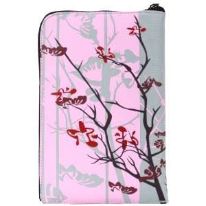 inch Pink Sparse Floral Zipper Carry Pouch Case Tablet Sleeve   Fits