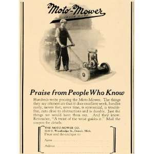 1927 Ad Moto Mower Company Garden Tool Lawn Cutter