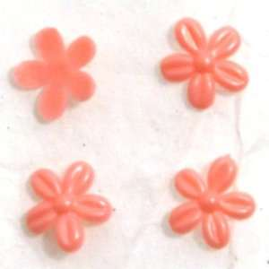 Zink Color Nail Art Salmon Pink Curve Cherry Blossom 4Pc