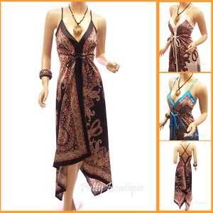 Paisleys Print Satin Long Maxi Dress