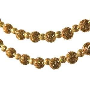 Pack of 4 Gold Art Deco Glitter Sprinkles Ball Christmas