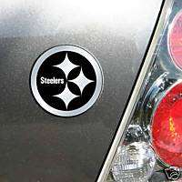 CHROME CAR/AUTO EMBLEM PITTSBURGH STEELERS FOOTBALL