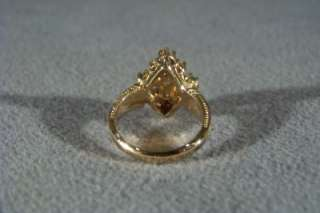 ANTIQUE SILVER GOLD FILIGREE BOLD CHROME DIOPSIDE WHITE TOPAZ PEARL