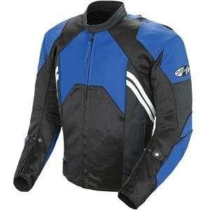Joe Rocket Radar Leather Race Jacket   46/Blue/Black