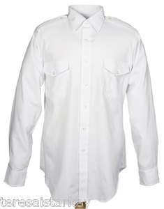 Mens Cintas dress shirt white aviator LONG SLEEVE 21 sleeve 36 37 NEW