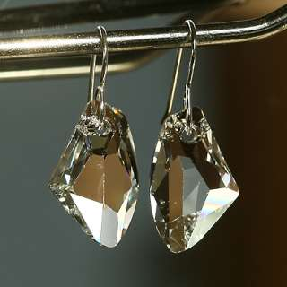 Swarovski Clear Galactic Crystal Simple Earrings