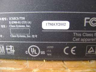 CISCO ICS 7700/7750 VOIP CALL MANAGER TELEPHONE SYSTEM |