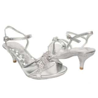 Heel Rhinestone Dress Sandals Silver special occassion shoes