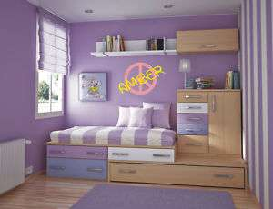 CUSTOM VINYL WALL GRAPHICS DECAL PEACE SIGN WITH NAME