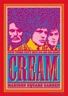 ERIC CLAPTON CREAM MADISON SQ GARDEN REUNION2005 POSTER