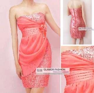Elegant Short Cocktail Dress Evening Dress XS~M #GF734
