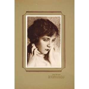 1925 Lois Wilson Silent Film Star Lithograph Portrait